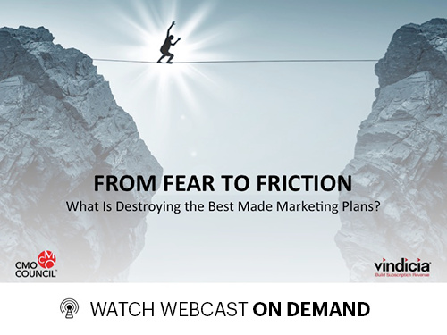 Custom Webcast Graphic for From Fear to Friction: What Is Destroying the Best Made Marketing Plans?